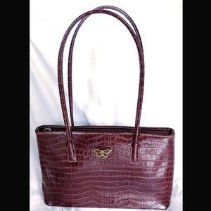 Crocodile style shoulder tote bag